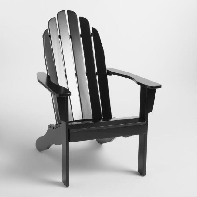 Black Wood Adirondack Outdoor Chair