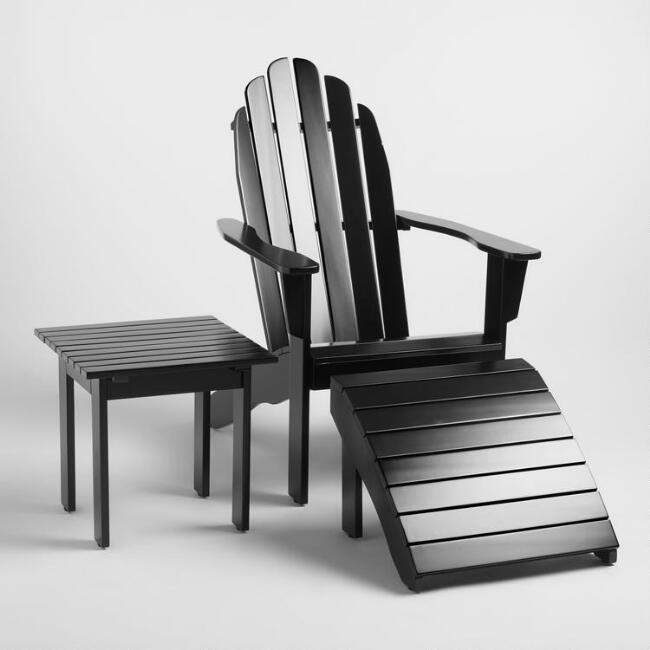 Black Wood Adirondack Outdoor Collection
