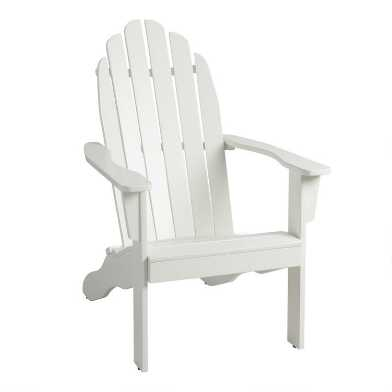 Antique White Adirondack Chair