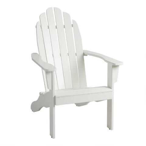Antique White Wood Adirondack Outdoor Chair. Previous. v6. v1 - Antique White Wood Adirondack Outdoor Chair World Market