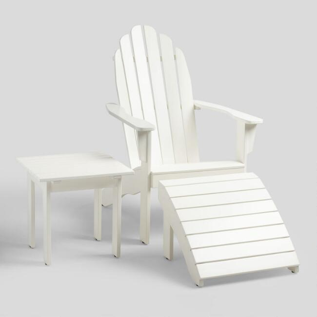 Antique White Wood Adirondack Outdoor Collection