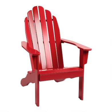 Barbados Red Adirondack Chair