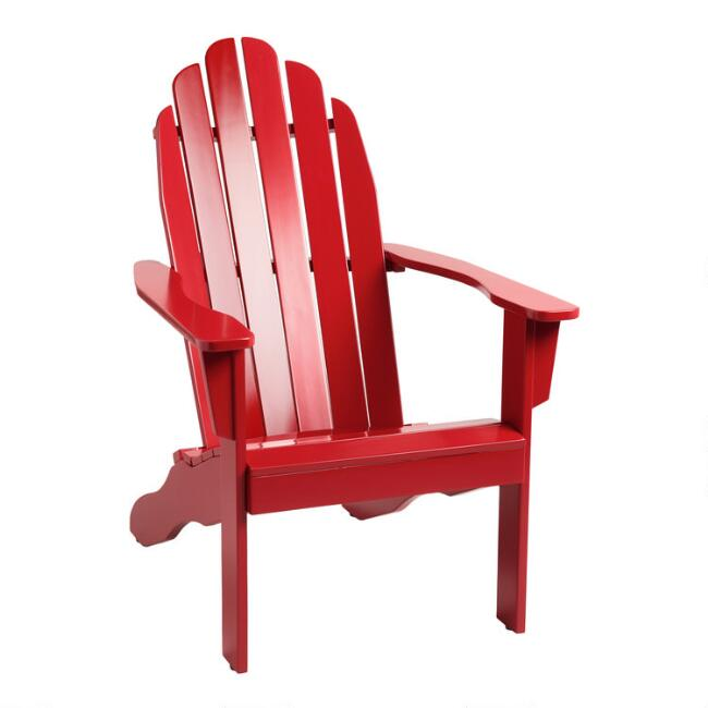 Barbados Red Wood Adirondack Outdoor Chair