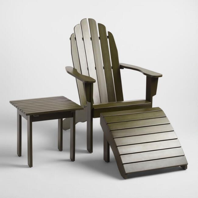 Olive Green Wood Adirondack Outdoor Collection