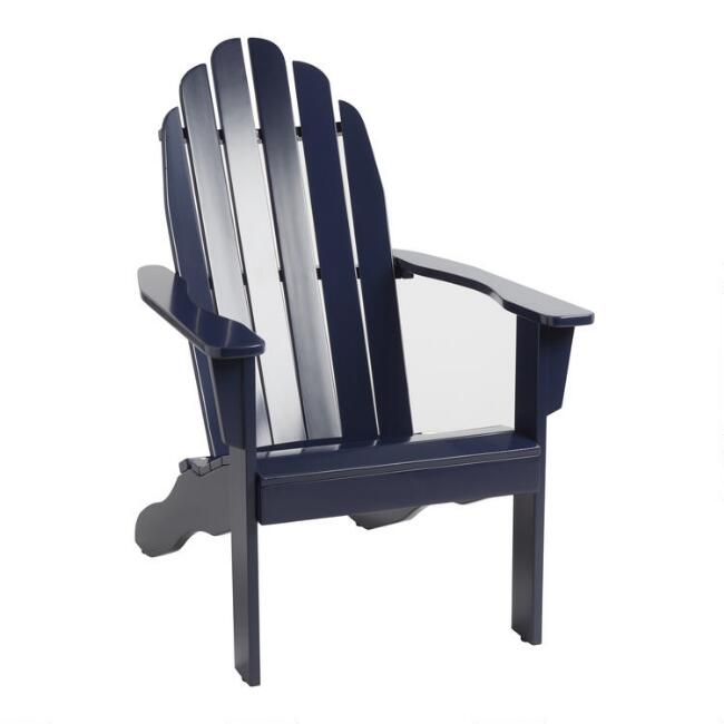 Peacoat Blue Adirondack Chair