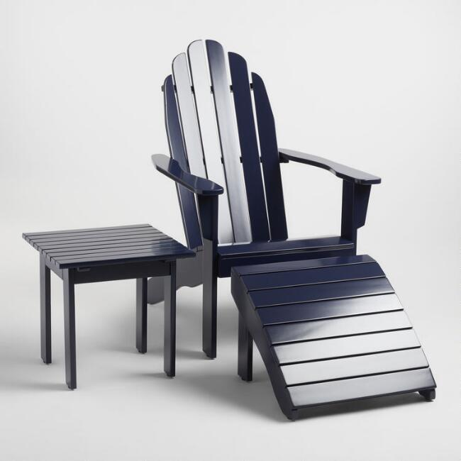 Peacoat Blue Wood Adirondack Outdoor Collection