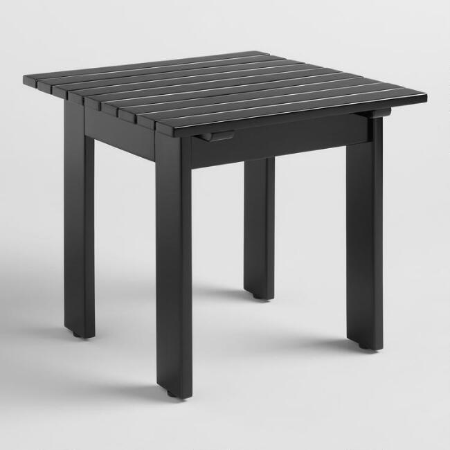 Black Wood Adirondack Outdoor Side Table