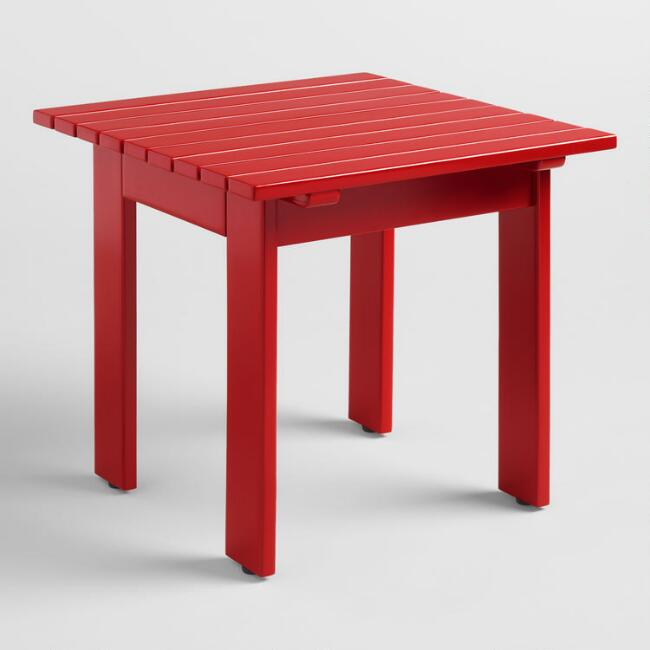 Barbados Red Adirondack Side Table