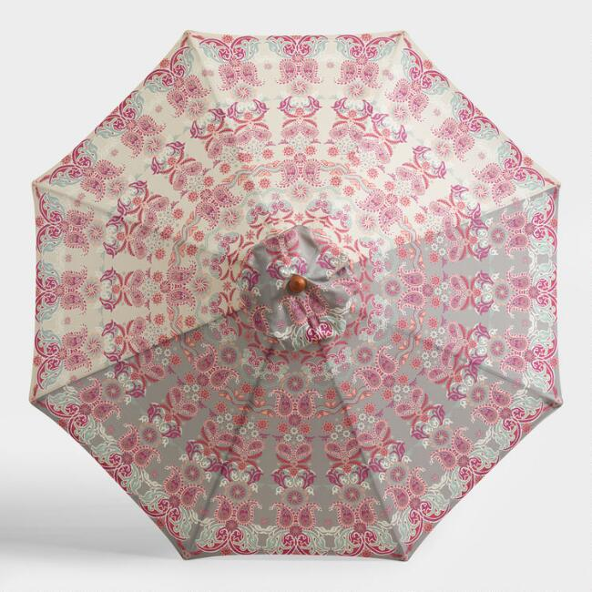 Floral Medina 9 Ft Umbrella Canopy