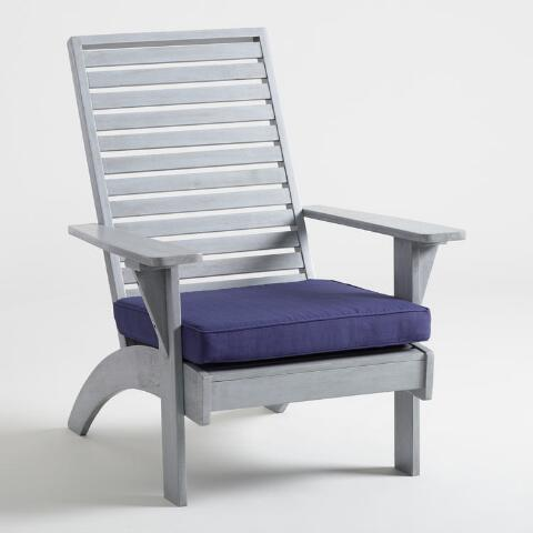 Tremendous Gray Wood Hyacinth Adirondack Chair With Cushion Gamerscity Chair Design For Home Gamerscityorg