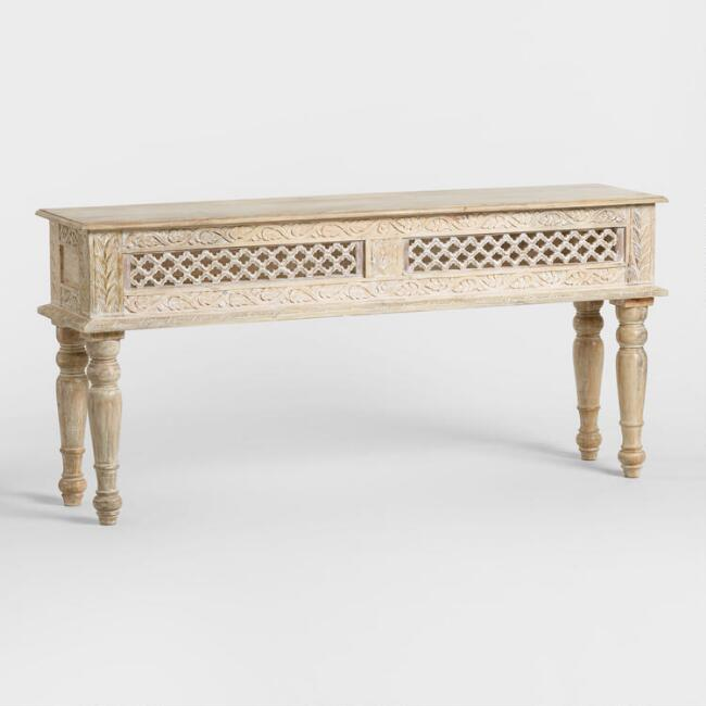 Wood Jali Console Table