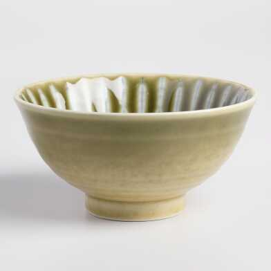 Green Porcelain Akari Bowls Set of 4