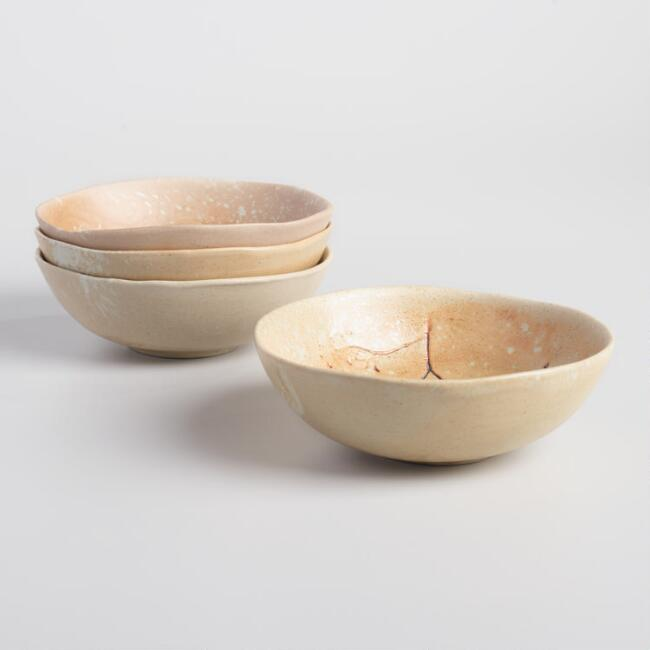 Sand Pressed Flower Anada Bowls Set of 4