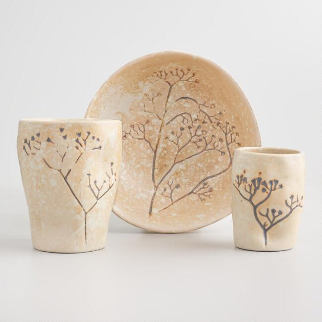 Sand Pressed Flower Anada Dinnerware Collection