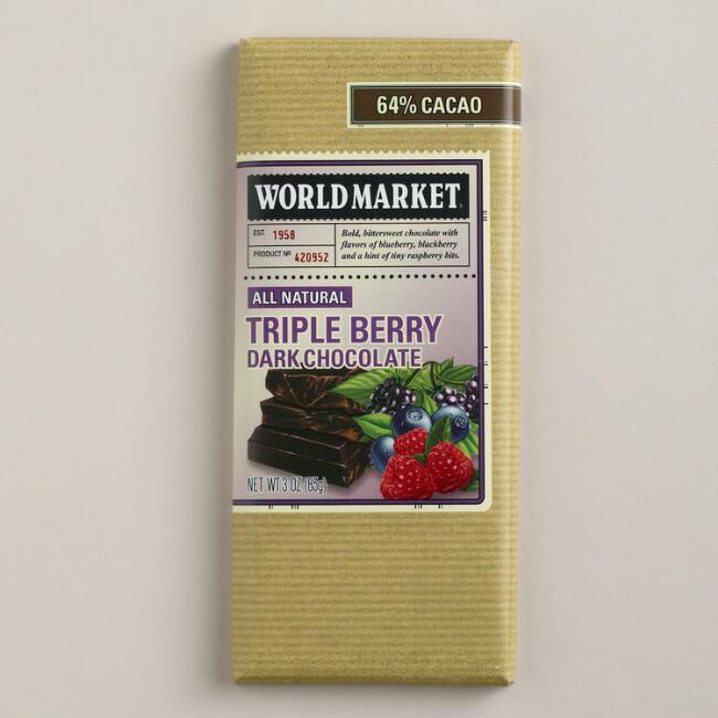 World Market® Mixed Berry Chocolate Bar, Set of 2