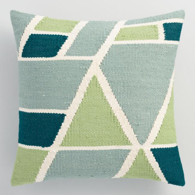 Cool Geometric Indoor Outdoor Throw Pillow