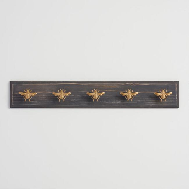 Gold Bee 5 Hook Wall Rack