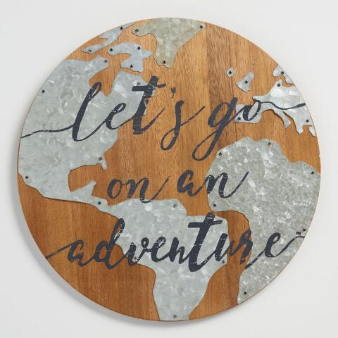 d32ceda2bf67 Let s Go on an Adventure Wood and Metal Sign