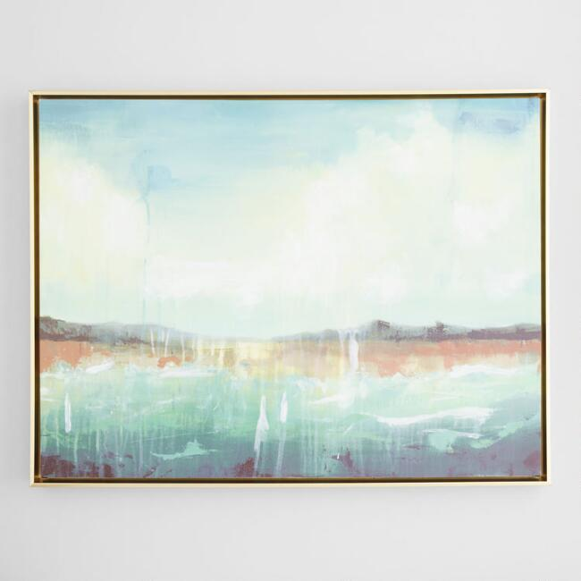 Green Coast Landscape by Leegan Koo Wall Art
