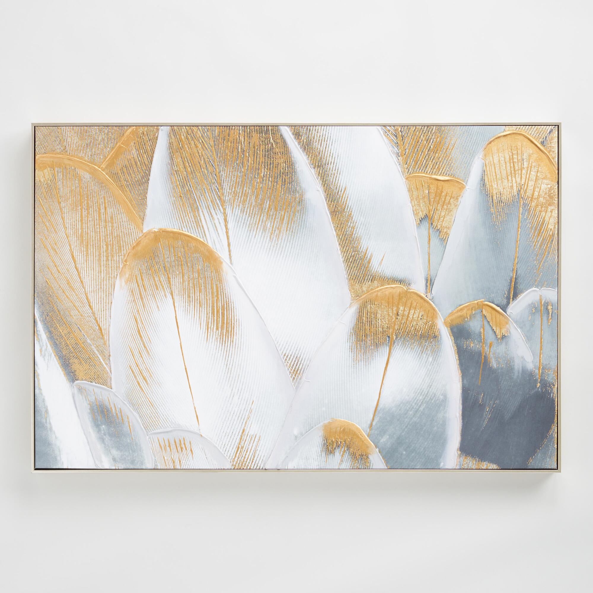 Royal Feathers by Oliver G Wall Art: Gray/Gold by World Market