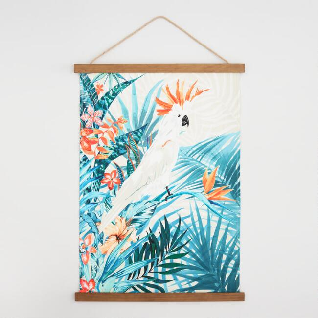 Parrot Canvas Tapestry with Wood Frame Wall Art | World Market