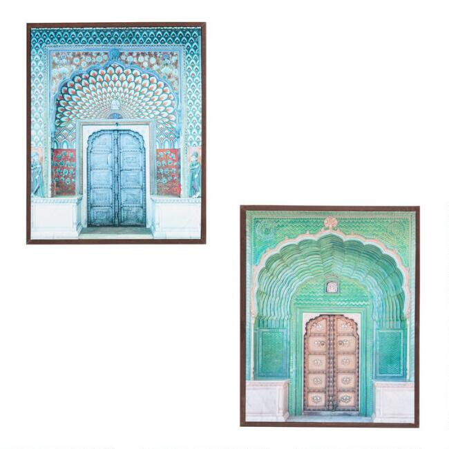 Doors Of India By Hakat Framed Canvas Wall Art Set Of 2