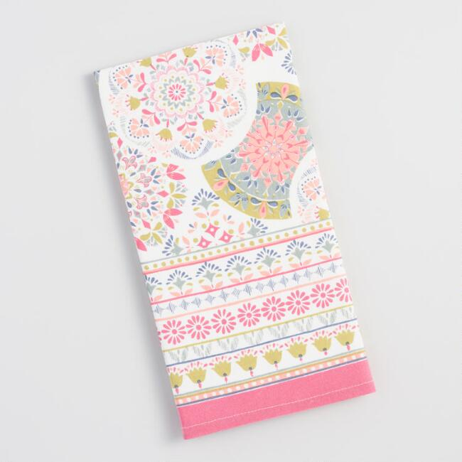 Pastel Floral Medallion Kitchen Towel