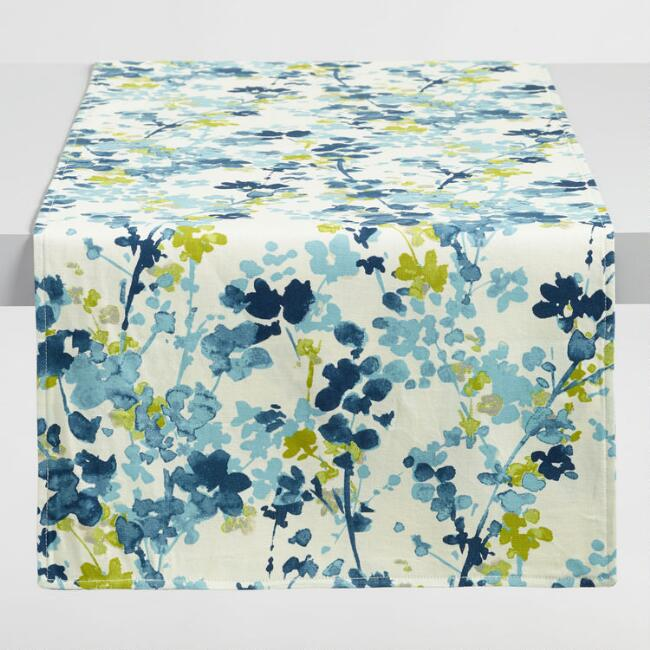 Blue Floral Margo Table Runner
