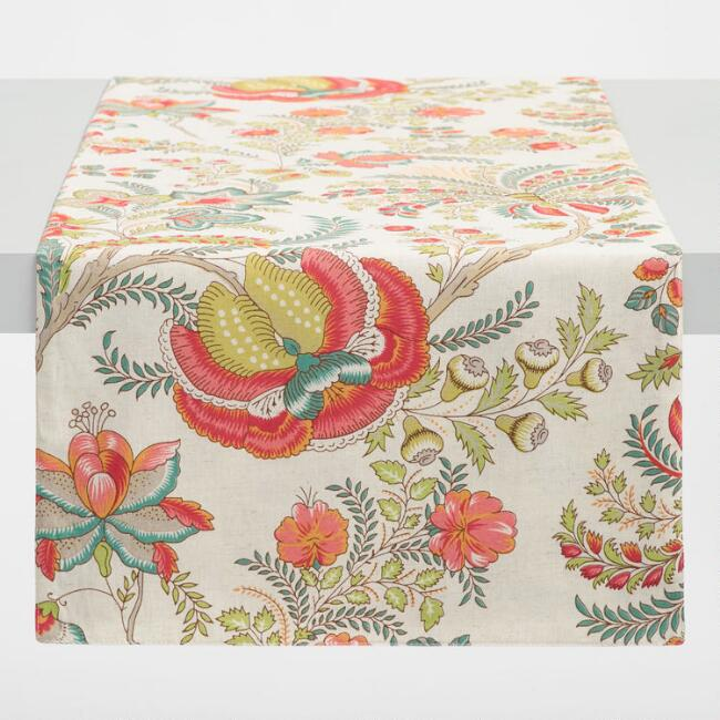 Coral Palampore Samaira Table Runner