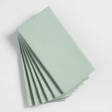 Jadeite Green Buffet Napkins Set of 6