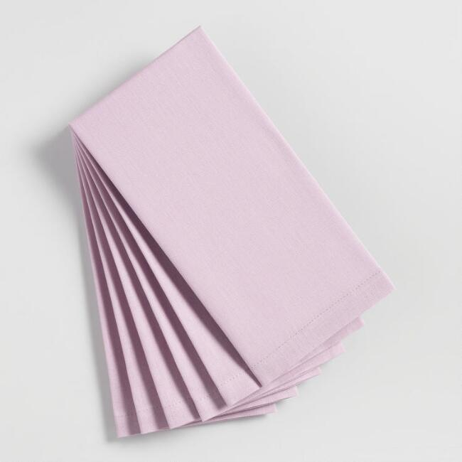 Purple Orchid Buffet Napkins Set of 6