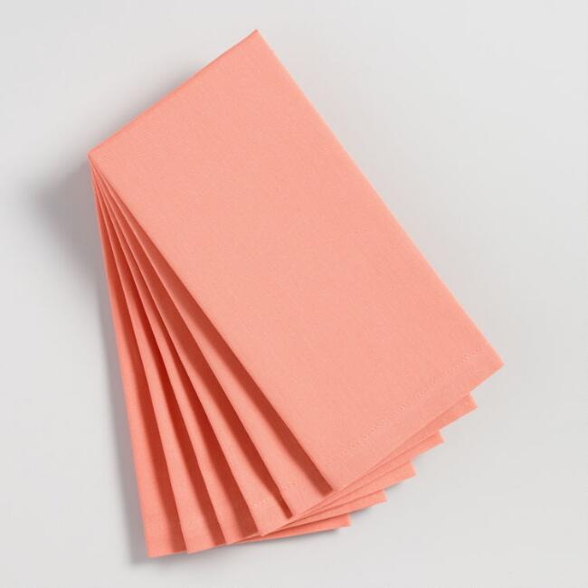 Dusty Coral Buffet Napkins Set of 6