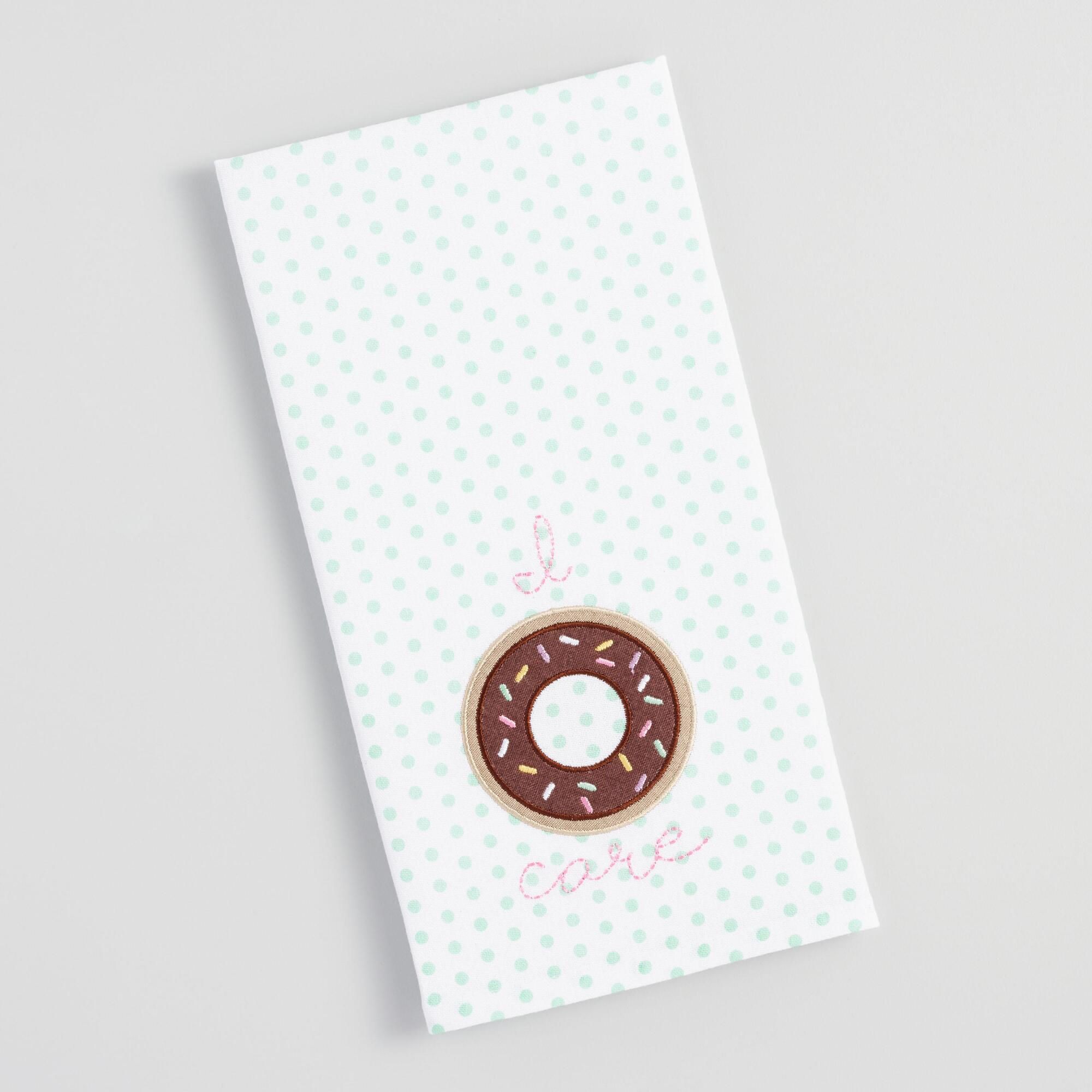 I Donut Care Kitchen Towel - Cotton by World Market