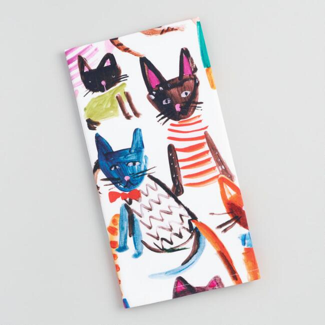 Multicolor Whimsical Cats Kitchen Towel