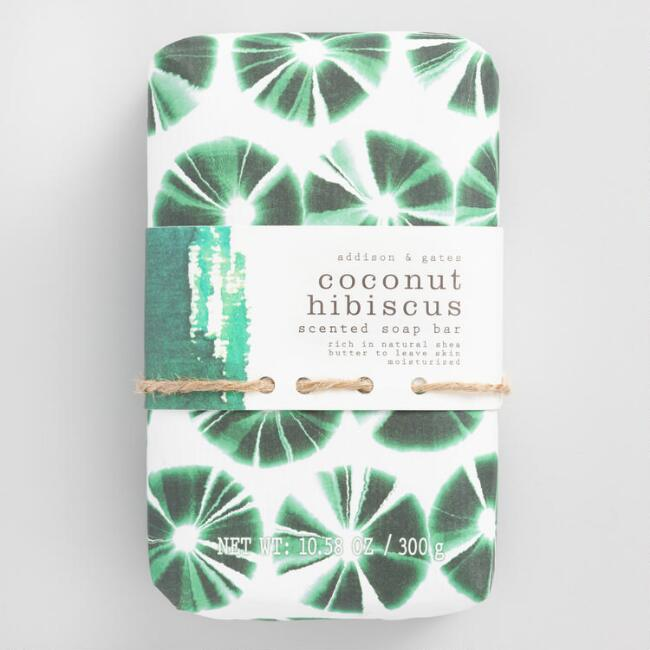 A&G Indigo Abstract Coconut Hibiscus Bar Soap