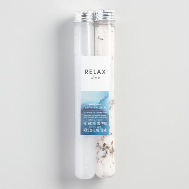 A&G Lavender and Chamomile Relax Bath Soak Set