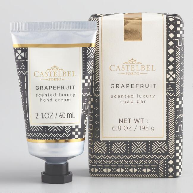 Castelbel Mud Cloth Print Grapefruit Hand Care Collection