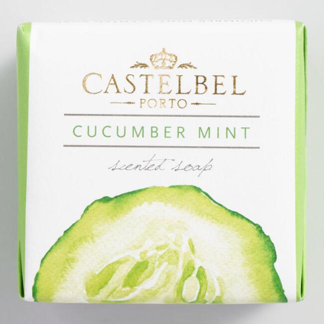 Castelbel Fresh Cube Cucumber and Mint Bar Soap Set of 2
