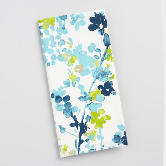 Blue Floral Margo Napkins Set of 4