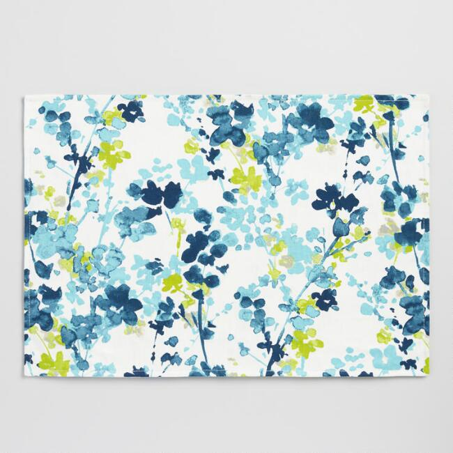Blue Floral Margo Placemats Set of 4