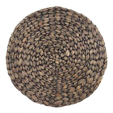 Blackwash Natural Fiber Round Placemat Set of 4