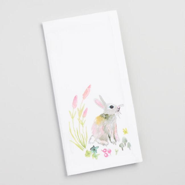Watercolor Bunny Napkins Set of 4
