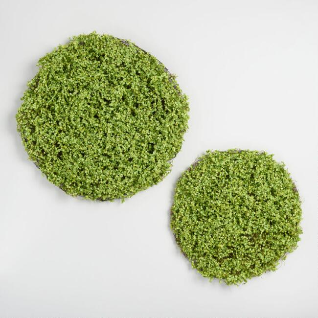 Round Faux Boxwood Table Mats