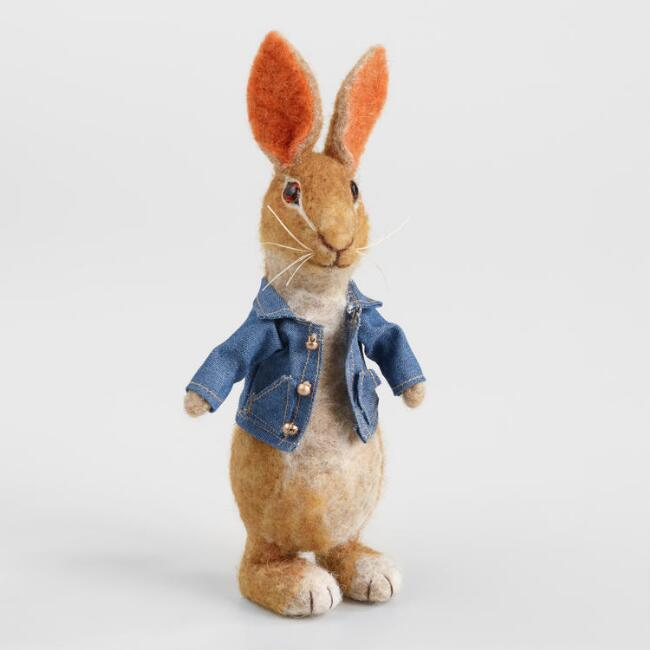 Felted Wool Peter Rabbit Figure