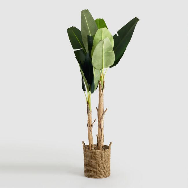 Faux Double Stalk Banana Tree