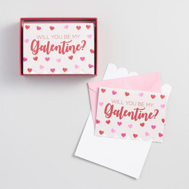 Will You Be My Galentine Boxed Notecards Set of 12