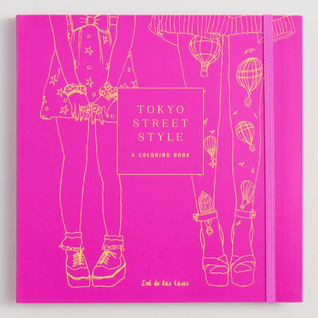 Tokyo Street Style Coloring Book