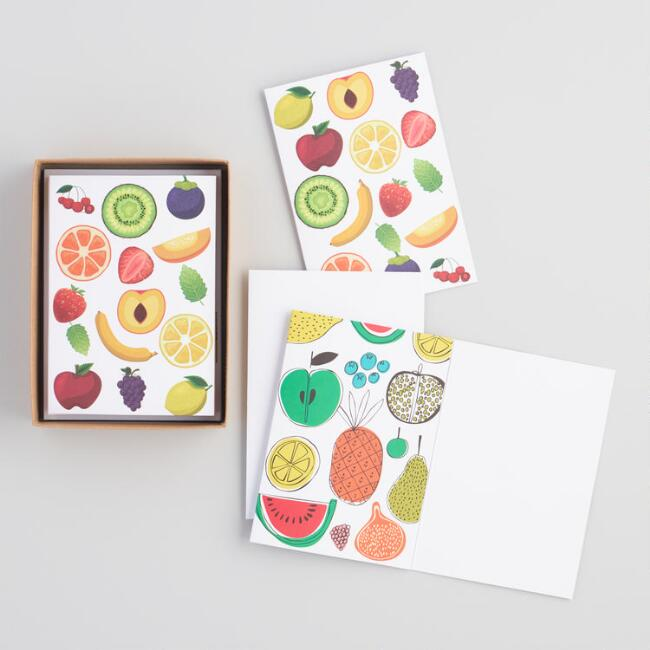 Fruit Kraft Paper Notecards 8 Count