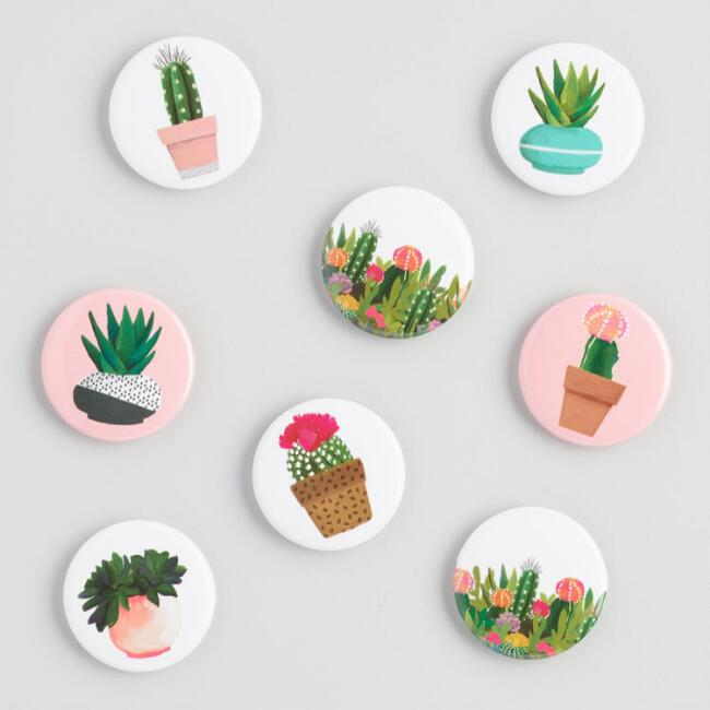 Cactus Magnets Set of 8