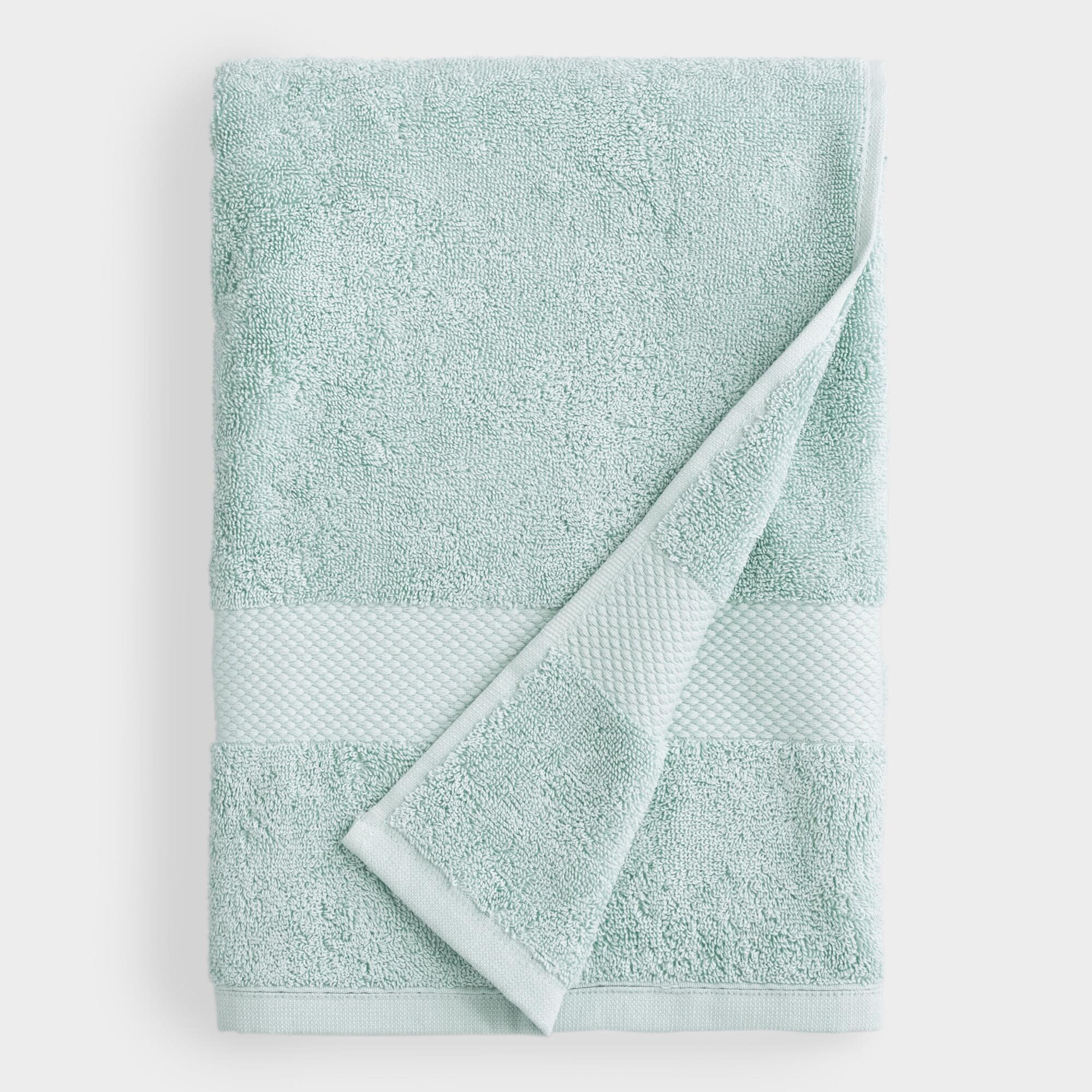 Sea Glass Aqua Bath Towel - Cotton  by World Market